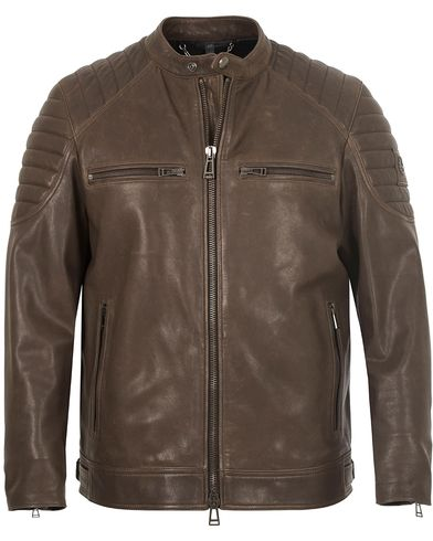 Belstaff Stoneham Leather Jacket Mahogany Brown i gruppen Jackor / Skinnjackor hos Care of Carl (13037611r)