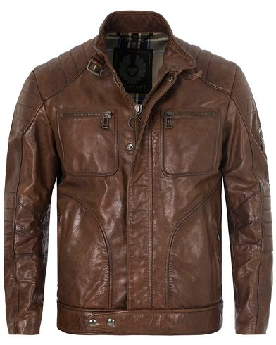 Belstaff Weybridge Leather Jacket Cognac i gruppen Jackor / Skinnjackor hos Care of Carl (13037711r)