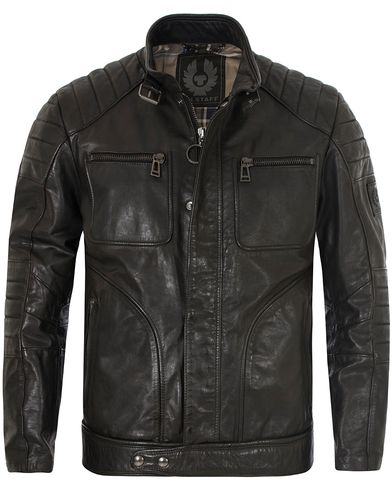 Belstaff Weybridge Leather Jacket Black i gruppen Jackor / Skinnjackor hos Care of Carl (13037811r)