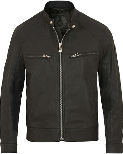 Belstaff Beckford Coated Stretch Denim Jacket Black i gruppen Jackor / Vaxade jackor hos Care of Carl (13038211r)