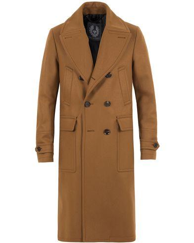 Belstaff Milford Wool/Cashmere DB Coat Heritage Khaki i gruppen Jakker / Vinterjakker hos Care of Carl (13039011r)