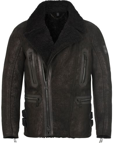 Belstaff Lightweight Lux Shearling Jacket Black i gruppen Jakker / Skinnjakker hos Care of Carl (13039311r)
