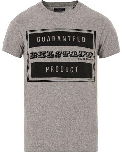 Belstaff Tilbury T-shirt Mid Grey Melange i gruppen T-Shirts / Kortermede t-shirts hos Care of Carl (13039511r)