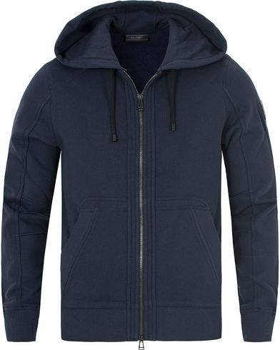 Belstaff Fleming Racing Zip Hood Navy i gruppen Tröjor / Huvtröjor hos Care of Carl (13039711r)
