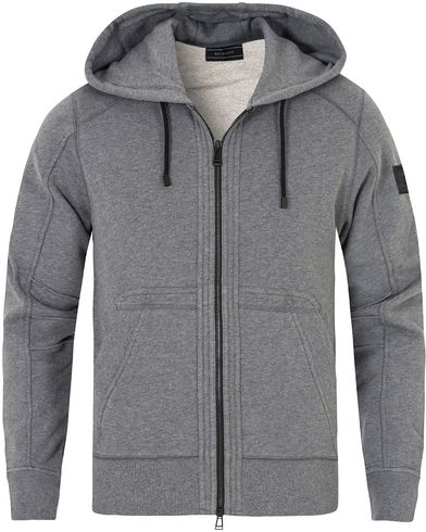 Belstaff Fleming Racing Zip Hood Mid Grey Melange i gruppen Gensere / Hettegensere hos Care of Carl (13039811r)