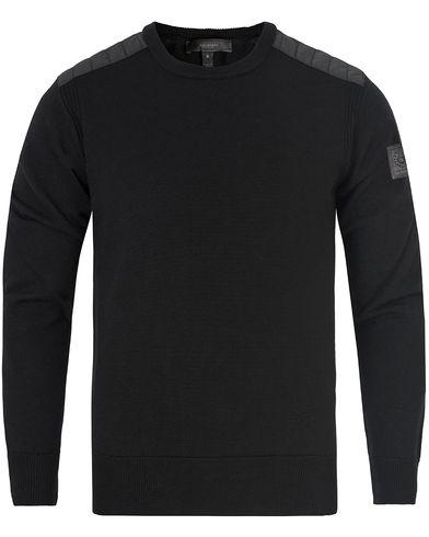 Belstaff Kerrigan Merino Crew Black i gruppen Tröjor / Stickade tröjor hos Care of Carl (13039911r)