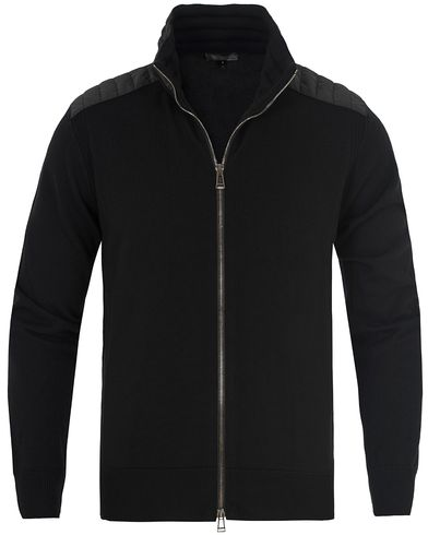 Belstaff Kelby Merino Zip Sweater Black i gruppen Tr�jor / Zip-Tr�jor hos Care of Carl (13040011r)