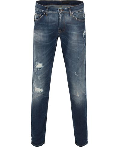 Tiger of Sweden Jeans Evolve Craft Blue Hole i gruppen Jeans / Avsmalnande jeans hos Care of Carl (13041211r)