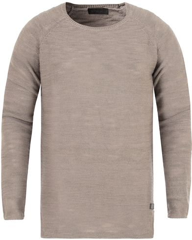Tiger of Sweden Jeans Rag Knitted Sweat Grey Melange i gruppen Gensere / Strikkede gensere hos Care of Carl (13043211r)