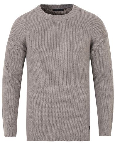 Tiger of Sweden Jeans Boxy Knitted Sweat Grey i gruppen Kläder / Tröjor / Stickade tröjor hos Care of Carl (13043611r)