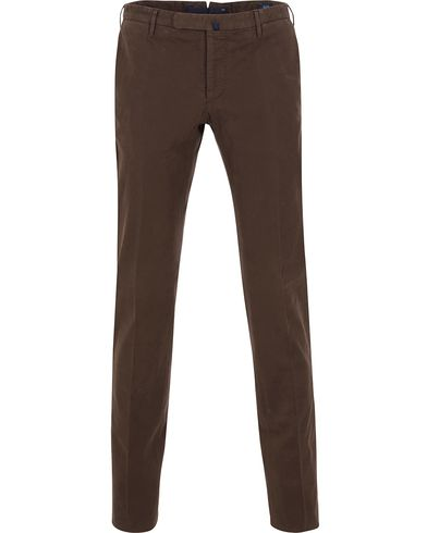 Incotex Slim Fit Comfort Chino Brown i gruppen Byxor / Chinos hos Care of Carl (13044211r)