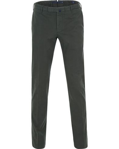 Incotex Slim Fit Comfort Chino Green i gruppen Klær / Bukser / Chinos hos Care of Carl (13044311r)