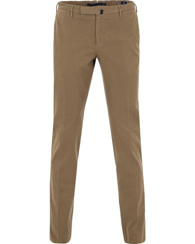 Incotex Slim Fit Comfort Chino Khaki i gruppen Bukser / Chinos hos Care of Carl (13044511r)