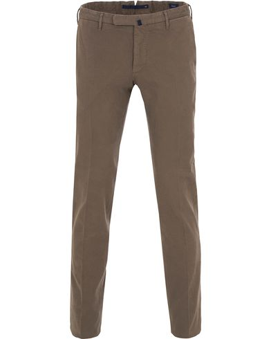 Incotex Slim Fit Comfort Chino Dark Putty i gruppen Kläder / Byxor / Chinos hos Care of Carl (13044611r)
