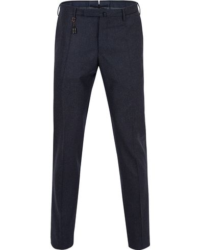 Incotex Super 100´s Flannel Trousers Dark Navy i gruppen Kläder / Byxor / Flanellbyxor hos Care of Carl (13044811r)