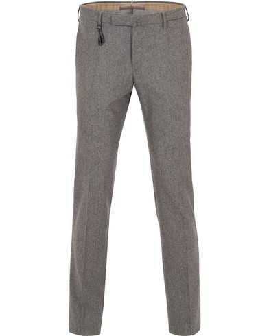 Incotex Super 100´s Flannel Trousers Grey i gruppen Klær / Bukser / Flanellbukser hos Care of Carl (13044911r)