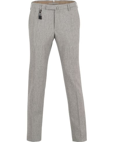 Incotex Super 100�s Flannel Trousers Light Grey i gruppen Bukser / Diverse bukser hos Care of Carl (13045011r)