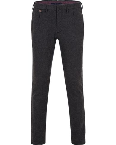Incotex Slim Tapered Wool Trousers Dark Grey i gruppen Klær / Bukser / Flanellbukser hos Care of Carl (13045311r)