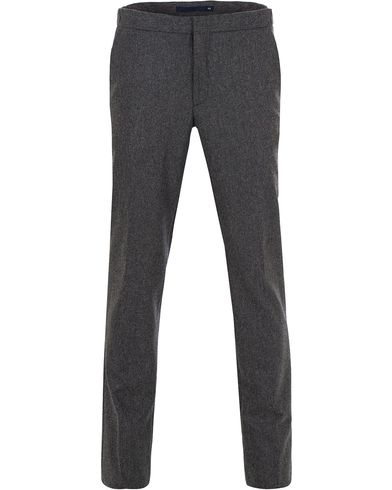 Incotex Slim Fit Jogger Flannel Trousers Grey i gruppen Kläder / Byxor / Flanellbyxor hos Care of Carl (13045711r)