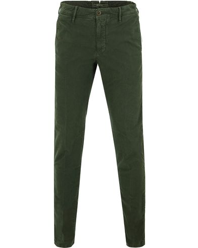Incotex Slim Fit Garment Dyed Washed Chino Green i gruppen Bukser / Chinos hos Care of Carl (13046011r)