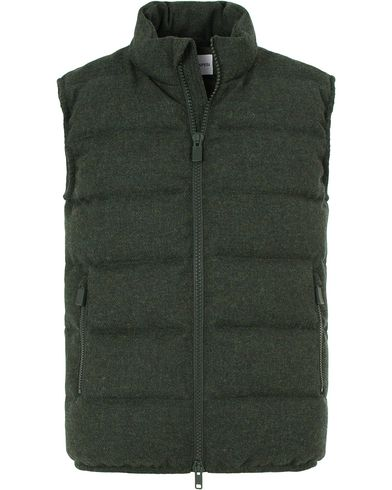 Aspesi Down Tweed Vest Moss Green i gruppen Klær / Jakker / Yttervester hos Care of Carl (13046511r)