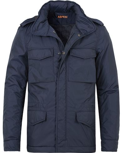 Aspesi Nylon Field Jacket Dark Blue i gruppen Jackor / Fieldjackor hos Care of Carl (13046711r)