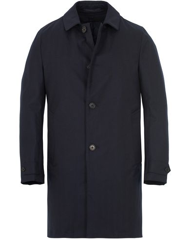 Aspesi Herringbone Wool Coat Dark Navy i gruppen Jakker / Vinterjakker hos Care of Carl (13047011r)