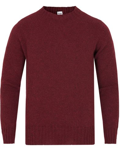Aspesi Crew Neck Shetland Knit Burgundy Red i gruppen Gensere / Strikkede gensere hos Care of Carl (13047611r)