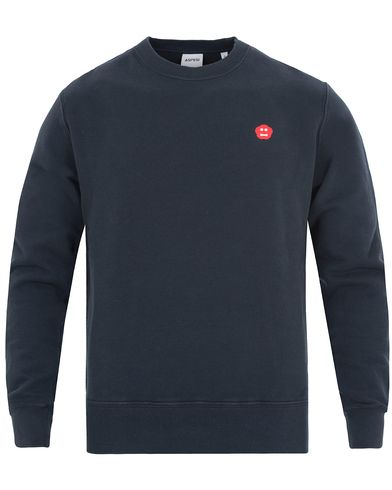 Aspesi Crew Neck Mini Logo Sweatshirt Dark Navy i gruppen Kläder / Tröjor / Sweatshirts hos Care of Carl (13047711r)