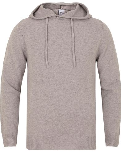 Aspesi Knitted Yak/Wool/Cashmere Hoodie Light Grey i gruppen Gensere / Hettegensere hos Care of Carl (13047911r)