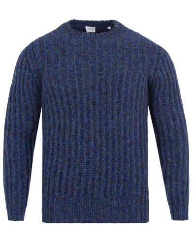 Aspesi Wool Knitted Crew Neck Navy i gruppen Tröjor / Stickade tröjor hos Care of Carl (13048011r)