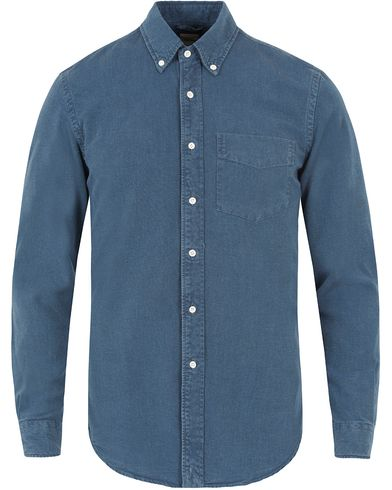 Aspesi Button Down Pocket Shirt Dark Denim i gruppen Skjortor / Jeansskjortor hos Care of Carl (13048311r)