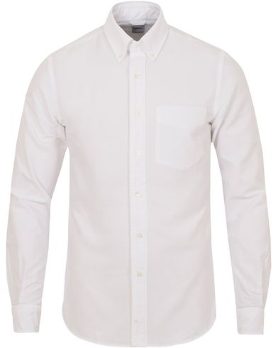 Aspesi Button Down Oxford Shirt White i gruppen Skjorter / Oxfordskjorter hos Care of Carl (13048411r)