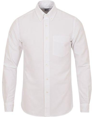 Aspesi Button Down Oxford Shirt White i gruppen Skjortor / Oxfordskjortor hos Care of Carl (13048411r)