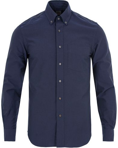 Aspesi Button Down Oxford Shirt Navy i gruppen Klær / Skjorter / Oxfordskjorter hos Care of Carl (13048611r)