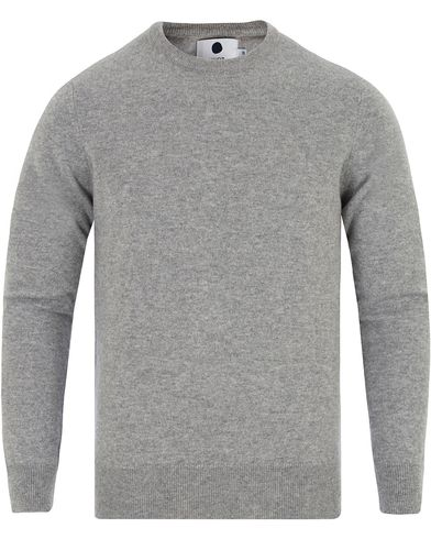 NN07 Charles Loro Piana 6207 Cashmere Pullover Grey i gruppen Gensere / Strikkede gensere hos Care of Carl (13048811r)