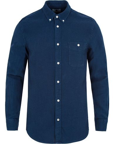 NN07 New Derek 5787 Pique Shirt Indigo Blue i gruppen Skjortor / Casual skjortor hos Care of Carl (13048911r)
