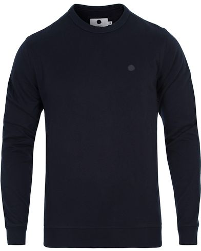 NN07 Base 3265 Sweater Navy i gruppen Tröjor / Sweatshirts hos Care of Carl (13049311r)