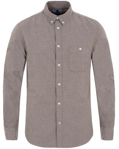 NN07 New Derek 5722 Flannel Shirt Khaki Melange i gruppen Skjortor / Flanellskjortor hos Care of Carl (13051311r)