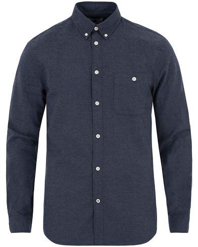 NN07 New Derek 5722 Flannel Shirt Deep Blue i gruppen Design A / Skjorter / Flanellskjorter hos Care of Carl (13051411r)