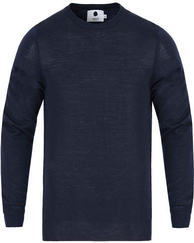 NN07 Charles Merino Wool Navy i gruppen Tröjor / Pullovers / Rundhalsade pullovers hos Care of Carl (13053111r)
