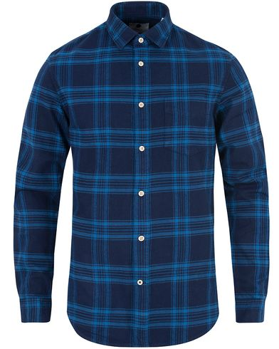 NN07 Dexter Check Flannel Shirt Blue i gruppen Skjorter / Flanellskjorter hos Care of Carl (13053911r)