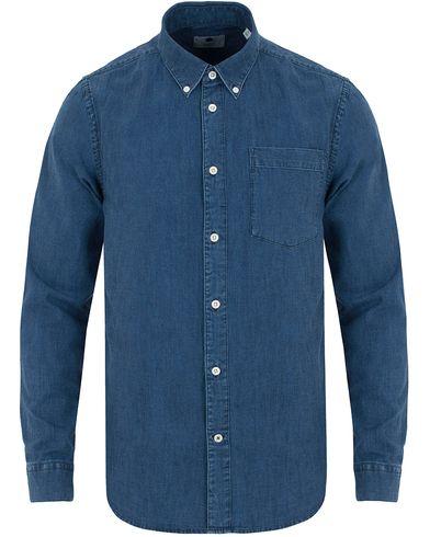 NN07 Falk Denim Shirt Indigo Blue i gruppen Kläder / Skjortor / Jeansskjortor hos Care of Carl (13054011r)