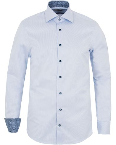 Stenströms Slimline Contrast Medallion Shirt Blue i gruppen Skjorter / Formelle skjorter hos Care of Carl (13054211r)