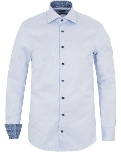 Stenstr�ms Slimline Contrast Medallion Shirt Blue i gruppen Skjortor / Businesskjortor hos Care of Carl (13054211r)