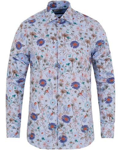 Stenströms Slimline Flower Print Shirt Light Blue i gruppen Klær / Skjorter / Oxfordskjorter hos Care of Carl (13054311r)