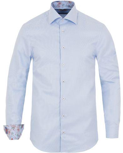 Stenströms Slimline Contrast Flower Shirt Blue i gruppen Design A / Skjorter / Formelle skjorter hos Care of Carl (13054411r)