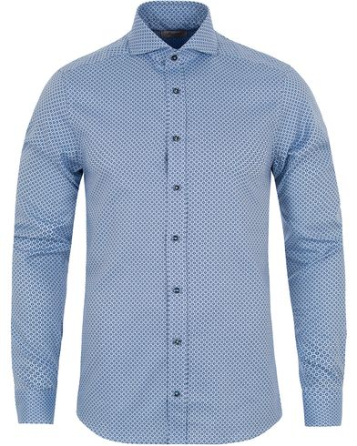 Stenstr�ms Superslim Dot Shirt Blue i gruppen Skjortor / Businesskjortor hos Care of Carl (13054711r)