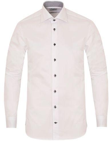 Stenströms Slimline Contrast Shirt White i gruppen Skjorter / Formelle skjorter hos Care of Carl (13054911r)