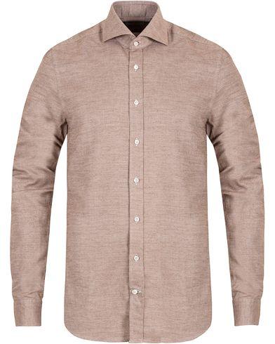 Stenströms Slimline Flannel Shirt Brown i gruppen Design B / Kläder / Skjortor / Flanellskjortor hos Care of Carl (13055211r)